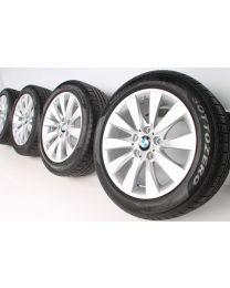BMW Winterkompletträder 3er F30 F31 4er F32 F33 F36 17 Zoll 413 V-Speiche RDC silber
