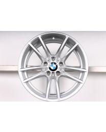 1x Original BMW M2 F87 / M3 F80 / M4 F82 F83 18 Zoll Alufelge 640M V-Speiche Hinterachse