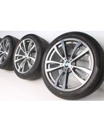 BMW Sommerkompletträder X5 F15 X6 F16 20 Zoll 469 M Doppelspeiche RDC bicolor