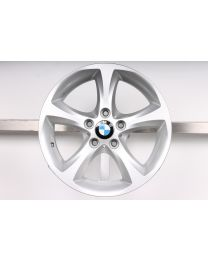 1x Original BMW 1er E81 E82 E87 E88 17 Zoll Alufelge 256 Sternspeiche Silber