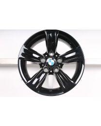 1x ORIGINAL BMW 3er F30 F31 / 4er F32 F33 F36 16 Zoll Alufelge 391 Sternspeiche Schwarz