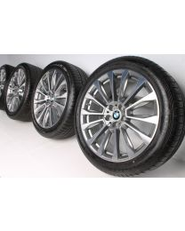 BMW Sommerkompletträder X3 G01 20 Zoll V-Speiche 697 RDC Bicolor