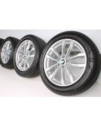 BMW Sommerkompletträder X3 G01 X4 G02 19 Zoll V-Speiche 691 RDC Silber