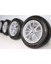 BMW Sommerkompletträder X3 G01 X4 G02 18 Zoll V-Speiche 618 RDC Silber