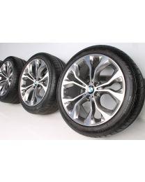 BMW Sommerkompletträder X5 F15 X6 F16 20 Zoll 451 Y-Speiche RDC bicolor