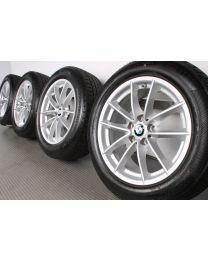 BMW Winterkompletträder 5er G30 G31 17 Zoll 618 V-Speiche RDC silber