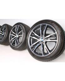 BMW Sommerkompletträder X5M F85 X6M F86 20 Zoll 611 M Doppelspeiche RDC bicolor