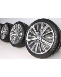 BMW Sommerkompletträder 6er G32 7er G11 G12 20 Zoll 628 V-Speiche RDC bicolor
