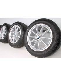 BMW Sommerkompletträder X1 F48 17 Zoll Styling 560 V-Speiche RDC Silber