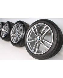 BMW Sommerkompletträder 6er G32 7er G11 G12 19 Zoll 647 M Doppelspeiche RDC bicolor
