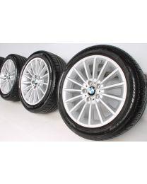 BMW Winterkompletträder 5er F10 F11 6er F06 F12 F13 18 Zoll 237 Vielspeiche RDC silber