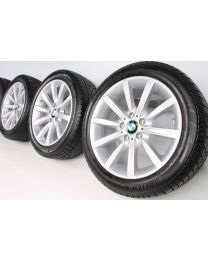 BMW Winterkompletträder 5er F10 F11 6er F06 F12 F13 18 Zoll 365 Sternspeiche RDC silber