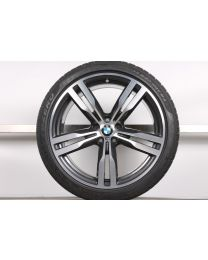 1x Original BMW 7er G11 G12 / 6er GT G32 20 Zoll Winter Komplettrad 648 M Hinterachse