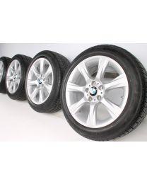 BMW Winterkompletträder 3er GT F34 18 Zoll 396 Sternspeiche RDC silber