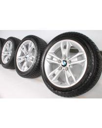 BMW Winterkompletträder X1 E84 17 Zoll 319 Sternspeiche RDC silber