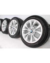 BMW Winterkompletträder X1 E84 17 Zoll Styling 318 V-Speiche RDC silber