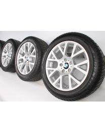 BMW Winterkompletträder 5er F07 GT 7er F01 F02 18 Zoll 238 Doppelspeiche RDC silber