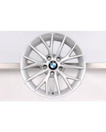 1x Original BMW 1er F20 F21 2er F22 F23 17 Zoll Alufelge 380 Y-Speiche Silber