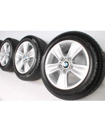 BMW Winterkompletträder 5er F10 F11 6er F06 F12 F13 17 Zoll 327 Sternspeiche RDC silber