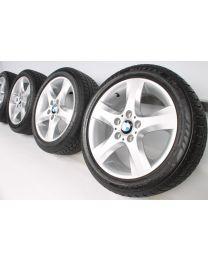 BMW Winterkompletträder 1er E81 E82 E87 E88 17 Zoll 142 Sternspeiche Silber