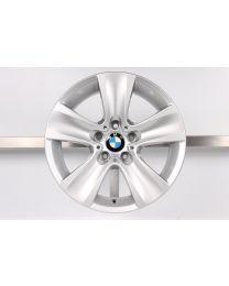 1x Original BMW 5er F10 F11 / 6er F06 F12 F13 17 Zoll Alufelge 327 Sternspeiche Silber