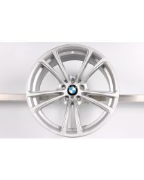 1x ORIGINAL BMW 5er F10 6er F12 F13 20 Zoll Alufelge 409 M Doppelspeiche Silber