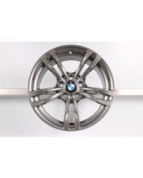 1x ORIGINAL BMW 3er F30 F31 / 4er F32 F33 F36 18 Zoll Alufelge 441 M Doppelspeiche Hinterachse Ferricgrey