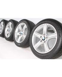BMW Winterkompletträder 3er F30 F31 4er F32 F33 F36 17 Zoll 393 Sternspeiche RDC silber 98V