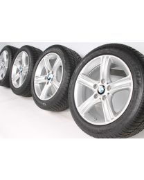 BMW Winterkompletträder 3er F30 F31 4er F32 F33 F36 17 Zoll 393 Sternspeiche RDC silber