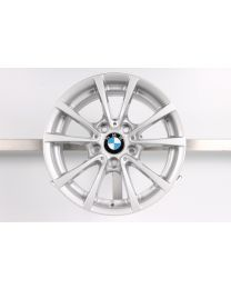 1x Original BMW 3er F30 F31 / 4er F32 F33 F36 16 Zoll Alufelge 390 V-Speiche Silber
