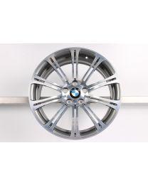 1x Original BMW M3 E90 E92 E93 19 Zoll Alufelge für die Hinterachse 220 M Doppelspeiche geschmiedet Bicolor