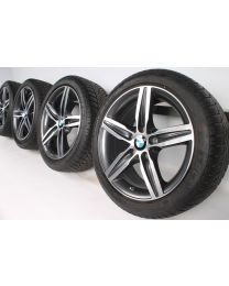 BMW Winterkompletträder 1er F20 F21 2er F22 F23 17 Zoll 379 Doppelspeiche RDC bicolor