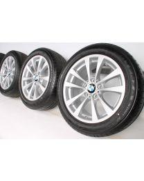 BMW Sommerkompletträder 3er F30 F31 4er F32 F33 F36 17 Zoll 395 V-Speiche RDC silber