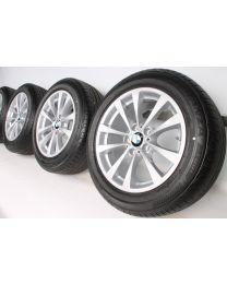 BMW Sommerkompletträder 3er GT F34 17 Zoll 395 V-Speiche RDC silber