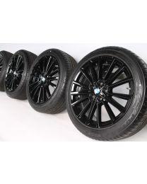 BMW Sommerkompletträder 2er AT F45 GT F46 18 Zoll 512 Sternspeiche RDC schwarz