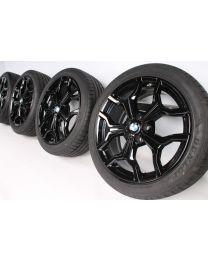 BMW Sommerkompletträder X1 F48 X2 F39 19 Zoll 722 M Y-Speiche RDC schwarz