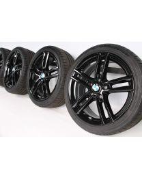 BMW Sommerkompletträder 1er F20 F21 2er F22 F23 18 Zoll 719 M Doppelspeiche RDC schwarz