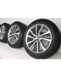 BMW Winterkompletträder X6 F16 19 Zoll 595 V-Speiche RDC bicolor