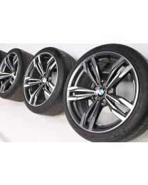 BMW Sommerkompletträder M6 F06 F12 F13 20 Zoll 433 M Doppelspeiche RDC bicolor