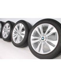 BMW Sommerkompletträder X1 F48 18 Zoll 567 Doppelspeiche RDC reflexsilber