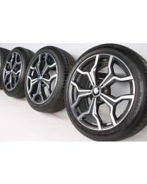 BMW Sommerkompletträder X1 F48 X2 F39 19 Zoll 722 M Y-Speiche RDC bicolor