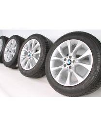 BMW Winterkompletträder X5 F15 E70 19 Zoll 450 V-Speiche RDC silber