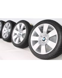 BMW Winterkompletträder 5er E60 E61 18 Zoll 123 Sternspeiche silber