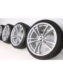 ORIGINAL BMW M5 F10 / M6 F06 F12 F13 20 Zoll Winterradsatz 409 M Doppelspeiche Silber