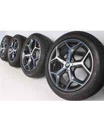 BMW Winterkompletträder Y-Speiche 569 bicolor (orbitgrey / glanzgedreht) 18 Zoll X1 F48 X2 F39 RDCi