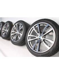 BMW Winterkompletträder X5 F15 X6 F16 20 Zoll 469 M Doppelspeiche RDC bicolor