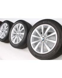 BMW Winterkompletträder 6er G32 7er G11 G12 18 Zoll 642 V-Speiche RDC silber