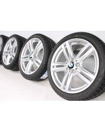 BMW Winterkompletträder 1er F20 F21 2er F22 F23 18 Zoll 386 M Doppelspeiche Silber RDC