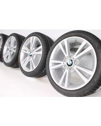 BMW Winterkompletträder 1er F20 F21 2er F22 F23 18 Zoll 385 Doppelspeiche Silber RDC