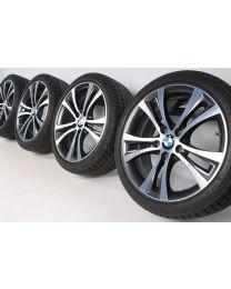 BMW Winterkompletträder 1er F20 F21 2er F22 F23 18 Zoll 384 Doppelspeiche RDC bicolor